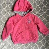 Двохстороння курточка ветровка розовая на девочку 2-3 года, Next