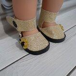 Туфельки для кукол Беби Борн. Ручная работа Материал - экокожа.