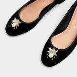 бархатные туфли Zara