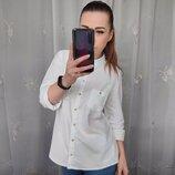 Красивая натуральная белая рубашка