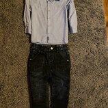 Рубашка, джинсы