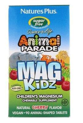 Animal Parade. Магний для детей, натуральный вишневый вкус, 90 табл. Сша