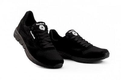 Мужские кроссовки текстильные летние черные Lions