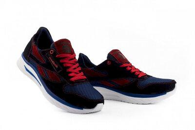 Мужские кроссовки текстильные летние синие-красные Lions
