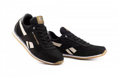 Мужские кроссовки текстильные летние черные Splinter Trend