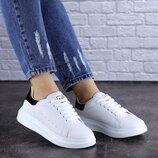 Женские белые кроссовки, кеды женские, удобные кроссовки, кросівки жіночі, кеді жіночі