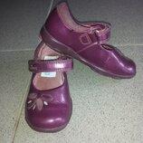 Туфли Clark s с мигалками для девочки,14,5 см стелька