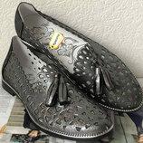 Versace Стильные женские летние кожаные балетки туфли натуральная кожа цвет никель