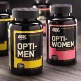 Optimum Nutrition, Opti-Women и Opti-Men. Витамины, мультивитамины для мужчин и женщин. Omega-3. Сша