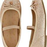 Нарядные и яркие туфельки балетки для девочки carter's картерс