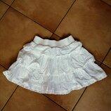 Белая летняя юбка NEXT девочке, 2-5 лет, бу, Киев