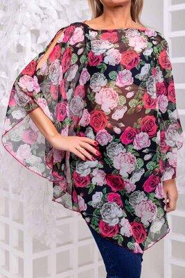 Туника женская с 42 по 48 туника жіноча туника пляжная туника с принтом блузка шифоновая Расцветок 5