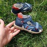 Кожаные орто профилактические босоножки сандалии для мальчиков летняя обувь каблук топаса супинатор