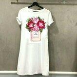 Женские стильные повседневные платья с принтами