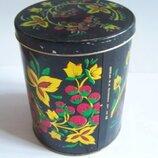 Жестяная, металлическая банка, коробка для круп, чая с рисунком ссср
