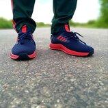 Мужские кроссовки синие с красным