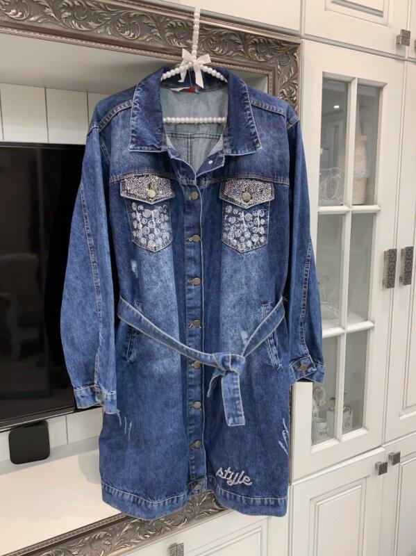 Джинсовый кардиган батал: 950 грн - женские пиджаки, жакеты в Сумах, объявление №25525630 Клубок (ранее Клумба)