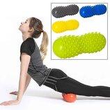 Валик массажный для спины, йоги, фитнеса 30см в форме арахиса