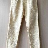 Джинсы сливочного цвета Zara / M / леопардовый принт
