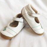 Туфли детские мокасины кожаные белые мягкие M&S Marks & Spencer Walkmates Размер 17, UK4S