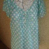 Фирменная нежная блузка m&s на 50 размер новая