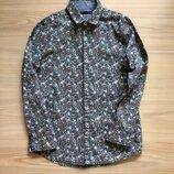 Нарядная рубашка в цветочек Некст р 8 лет