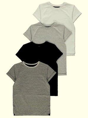 Мягенькие футболочки 4 шт. в уп. от george из Англии, размер 6-7 лет