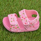 Детские пляжные босоножки сандалии на девочку розовые р18-23