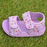Детские пляжные босоножки сандалии на девочку сиреневый р18-23