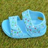 Детские пляжные босоножки сандалии на девочку голубой р18-23