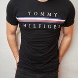 Мужская футболка Tommy Hilfiger Томми Хилфигер DS-5936 в расцветках.