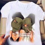 Модные стильные футболки с принтами Кр-422