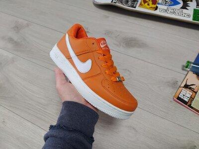 Женские кроссовки Nike Air Force оранжевые