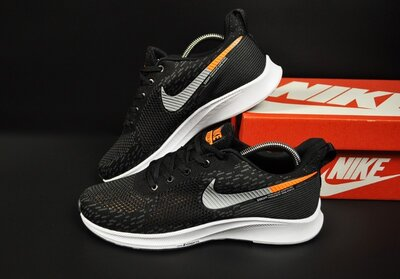 Кроссовки мужские Nike Zoom AIR, черные с белым