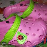 Розовые кроксы для девочки, кроксы розовые 22-29, кроксы Jose amorales для девочки
