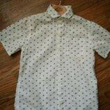 Рубашка Next 7 лет с коротким рукавом