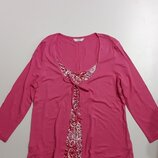 Фирменная трикотажная блуза L