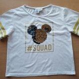 Классная укороченная футболка Disney Mickey Mouse на р.146-152