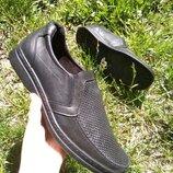 Летние мужские туфли, легкие из натуральной кожи 42,43,44
