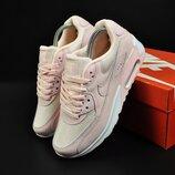 женские кроссовки Nike Air Max 90 розовые