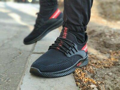 Летние мужские кроссовки черные