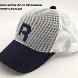 Бейсболка мужская кепка сетка 54 по 58 размер мелкая посадка