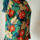 Блуза 14/16uk,натуральна ефектна блузочка M&S