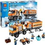 Конструктор Bela серия Urban Arctic 10440 Арктическая мобильная станция аналог Lego City 60035