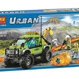 Конструктор Bela Urban 10638 Вулкан разведывательный грузовик аналог Lego City 60121