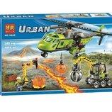 Конструктор Bela Urban 10640 Вулкан вертолет для доставки аналог Lego City 60123