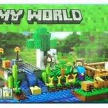Конструктор Bela 10175 Майнкрафт Ферма аналог Lego Minecraft 21114