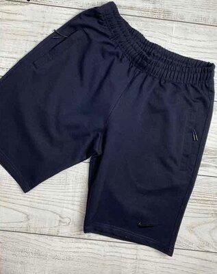 Мужские шорты трикотажные в стиле nike темно-синие