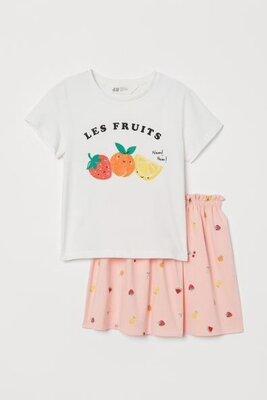 Летний комплект H&M для девочек 4-6,6-8,8-10 лет