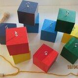 Игрушки деревянные, развивающие, обучающие.